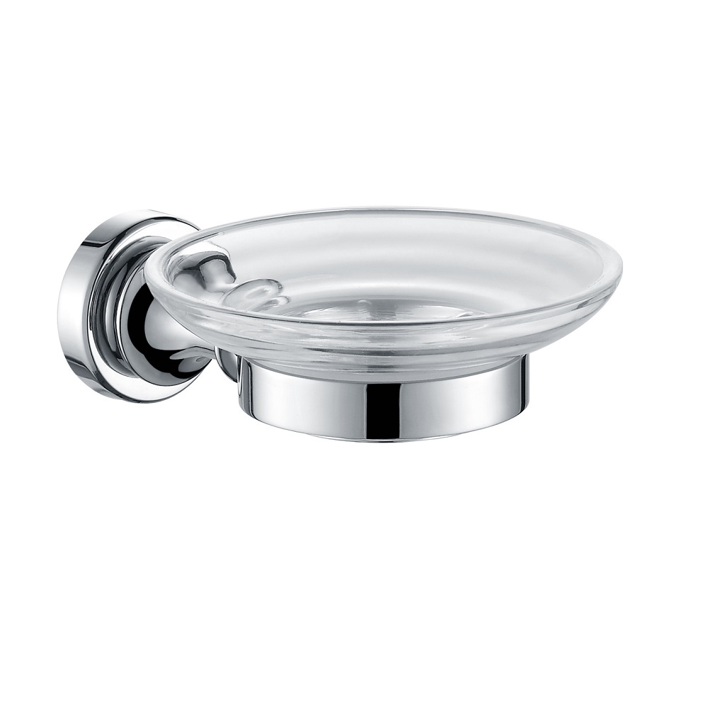 H003048360cp chrome soap dish holder wall mounted solid - Solid brass bathroom accessories ...