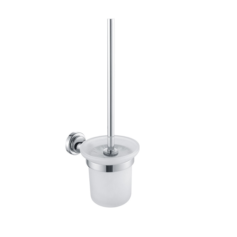 H003048390cp chrome round toilet brush holder wall - Solid brass bathroom accessories ...