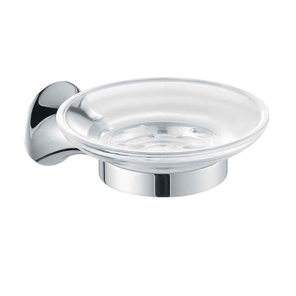 H003048260cp chrome soap dish holder wall mounted solid - Chrome and brass bathroom accessories ...