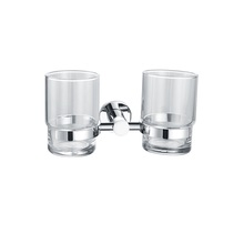 H003042072CP Chrome Double Round Tumbler Holder, Wall Mounted  bathroom accessories