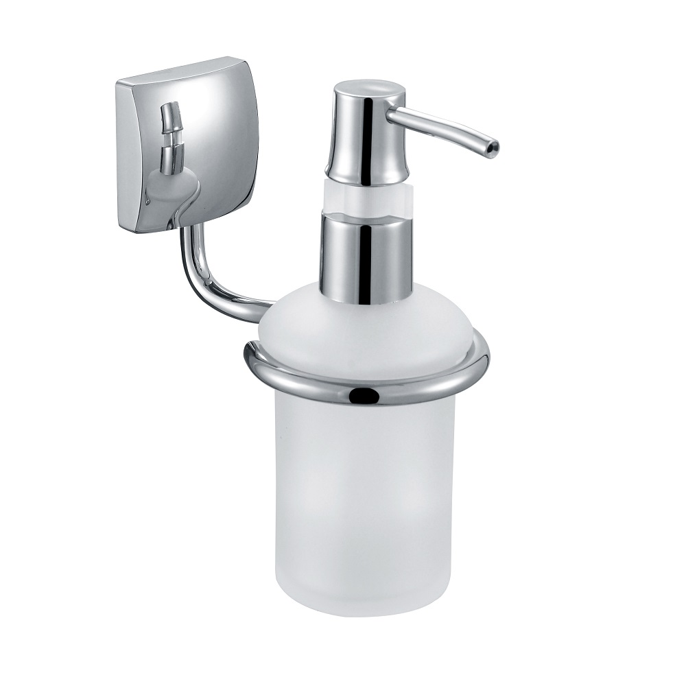 H003046603cp chrome soap and lotion dispenser wall - Solid brass bathroom accessories ...