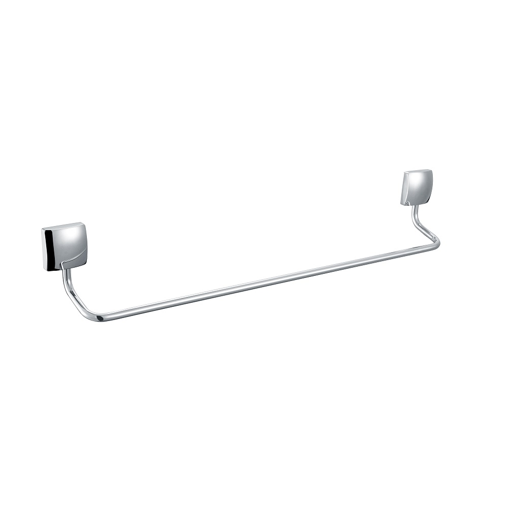 H003046610CP Chrome Single towel Bar, Wall Mounted, Solid Brass bathroom accessories