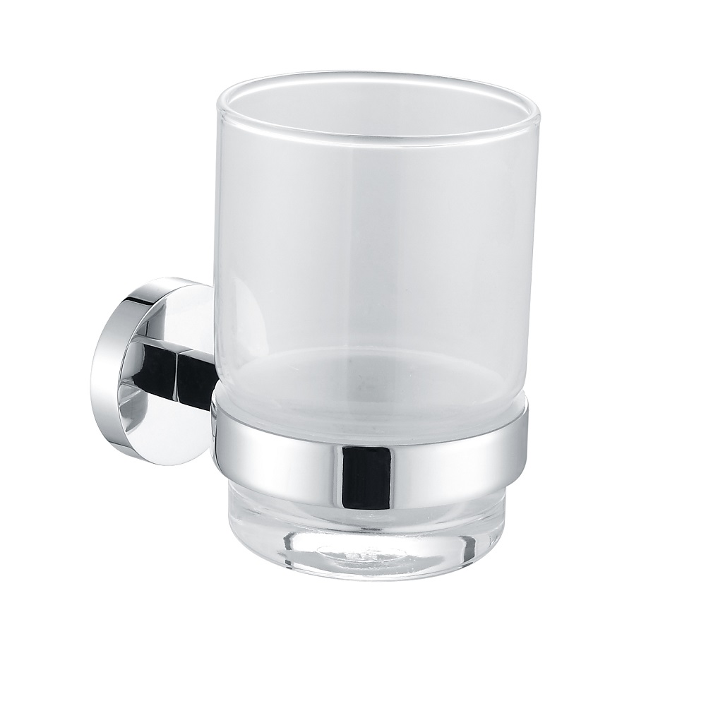 H003046971cp chrome single round tumbler holder wall - Chrome and brass bathroom accessories ...
