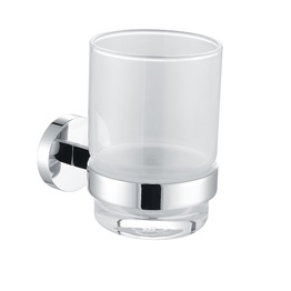 H003046971CP Chrome Single Round Tumbler Holder, Wall Mounted, Solid Brass bathroom accessories