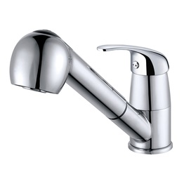H0040181208 Chrome1-Handle Deck Mount Pull-down 2 Spray Options  kitchen faucets