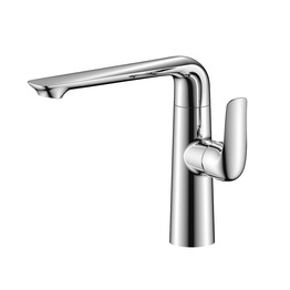 H00401837052 Chrome 1-handle Deck Mount kitchen faucets
