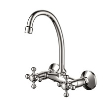 H00401905061 Chrome 2-handle Wall Mount Sink Mixer kitchen faucets