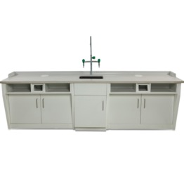 A5 All Steel Lab Bench With Falling Floor Supporting Cabinet lab furniture laboratory furniture lab workbench