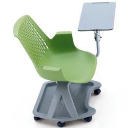 PP Chair with arm rest and writting pad lab furniture lab chair laboratory chair lab stool laboratory stool