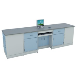 A3 All Steel Lab Bench With Falling Floor Supporting Cabinet lab furniture science lab furniture