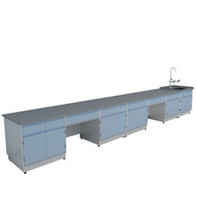 A6 All Steel Lab Bench With Falling Floor Supporting Cabinet