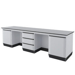 A8 All Steel Lab Bench With Falling Floor Supporting Cabinet