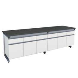 A3 All Wood C Frame Lab Bench With Suspended or Movable Under Bench Cabinet lab furniture science lab furniture