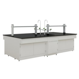 B1 All Steel Lab Bench With Falling Floor Supporting Cabinet lab furniture science lab furniture