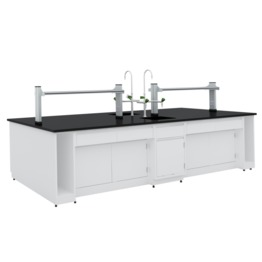 B2 All Steel Lab Bench With Falling Floor Supporting Cabinet lab furniture science lab furniture