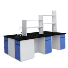 B5 All Steel Lab Bench With Falling Floor Supporting Cabinet lab furniture science lab furniture