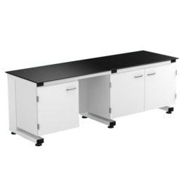 A1 All Steel C Frame Lab Bench With Suspended & Movable Under Bench Cabinet lab furniture science lab furniture