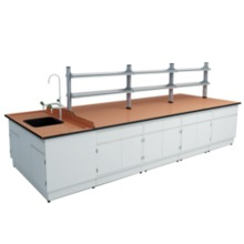 B3 All Steel Lab Bench With Falling Floor Supporting Cabinet lab furniture science lab furniture