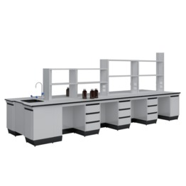 B6 All Steel Lab Bench With Falling Floor Supporting Cabinet lab furniture science lab furniture