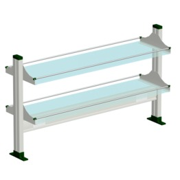 Aluminium Glass Table Mounted Reagent Rack#2 laboratory furniture science laboratory