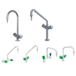 Single Spout Hot & Cold Water Mixing Faucet lab furniture school lab furniture