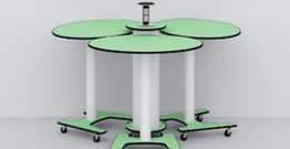 Foldable,flexible school furniture for student table