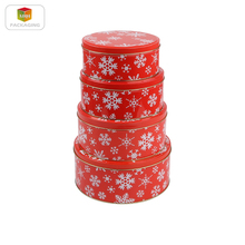 tin storage box round tins metal food containers