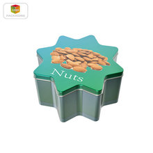 Christmas gift flower shape metal tin box candy tins