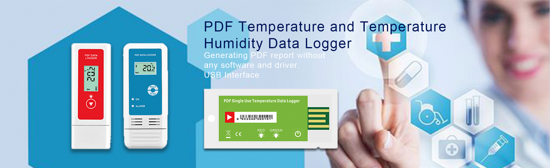 Auto Generating PDF File USB Data Logger-www.measung.com
