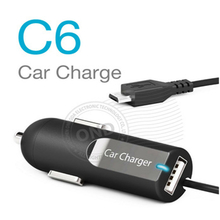 5V 2.4A USB Port Wired 5PIN 8PIN Travel Car Charger with Cable
