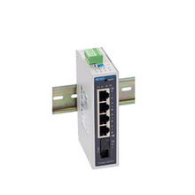 FOWAY4205TF    1 100M FX  and 4 10 &100M RJ45  Din Rail Ethernet switch