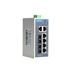 FOWAY4208TF   2 100M FX & 6 10 100M RJ45 Din Rail Ethernet switch