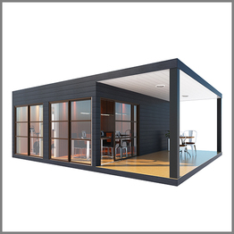 UPS low cost modular flat pack container house modular container building