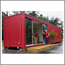 Steel frame building prefab house 20ft 40ft expandable shipping Container House