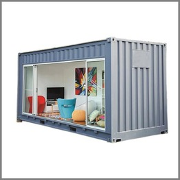 Customized Waterproof Prefabricated 20ft Modified Shipping Container House