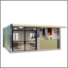 Prefab restaurant fast install container house container coffee shop fast food kiosk