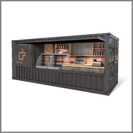 Flat pack mobile container coffee shop and restaurant shipping container house Malaysia Australia Philippines