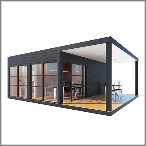 Prefab flat pack shipping container home high quality container restaurant detroit long beach