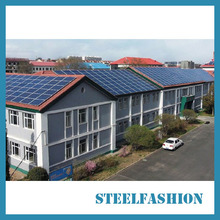 Cheap steel frame solar buildings for Africa