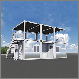 Cheap 20ft Prefab Modern Design Flat Pack Container Tiny Houses Cabin
