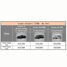 Itami Airport (ITM) Transfer Service By Yen