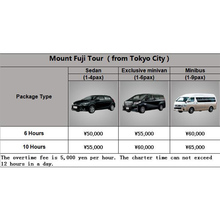 Fuji Mountain Chartered Car price