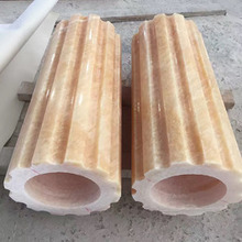 High Quality Hand Carved Yellow Onyx Roman Columns