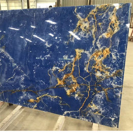 Antofagasta Azul Onyx Blue Onxy Slabs with Aluminum honeycomb