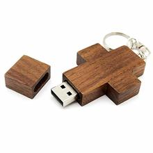 Cross wooden usb flash drive memory stick