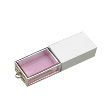 Fashion Pink crystal usb thumb drive with led light