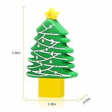 Christmas tree shape usb flash drive