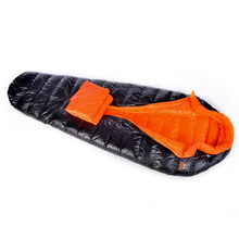 Feather sleeping bag duck feather lightweight with extra layer for extreme weather condition