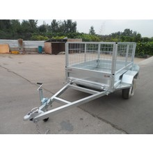 Farm use fully weld box trailer