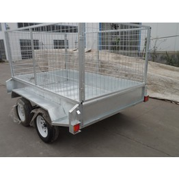 Double axle strong box trailer